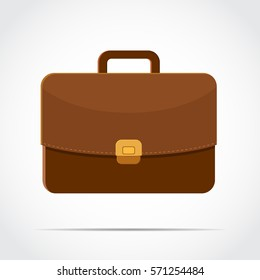 brown briefcase with golden lock