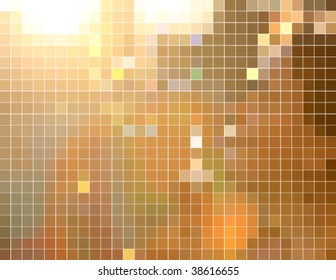 brown bright square mosaic tiles, vector