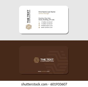 brown business card for parquet and laminate store