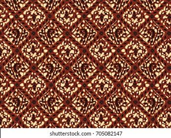 Brown Classic Batik Flora