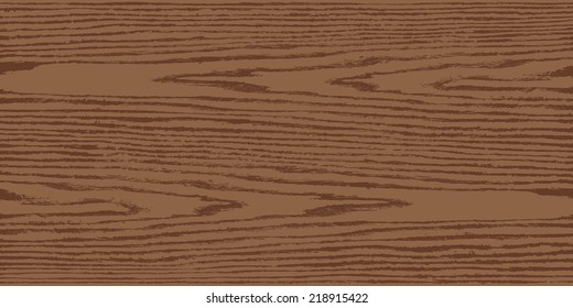Brown color natural wood texture background on horizontal format in flat style. Realistic plank with annual years circles. This vector illustration design elements saved in 8 eps