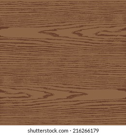 Brown color wood texture background in square format. Natural pattern swatch template in flat style. Realistic plank with annual years circles. This design elements save in vector illustration 8 eps
