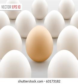 Brown egg concept. Vector