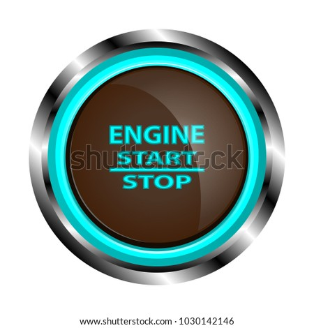 brown engine start button metal case stock vector royalty free Safety Start Button brown engine start button in a metal case with inscriptions start stop with a neon