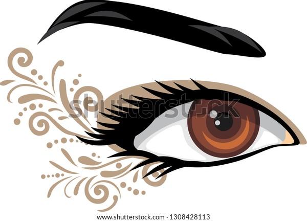 brown-female-eye-decorative-element-600w