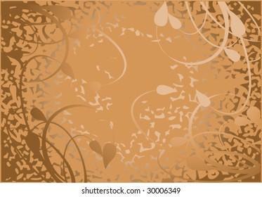 brown flower silhouette