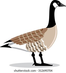Brown Goose vector Stylized