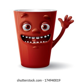 brown laughing cup