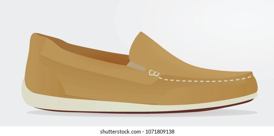 Brown loafer. vector illustration