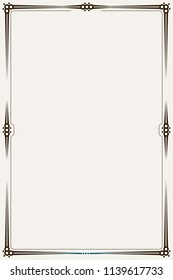 Brown Minimalistic Border or Frame with Blank Space in the Centre. Template