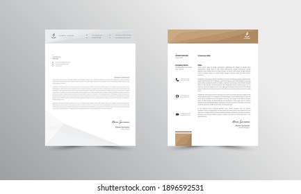 Brown Modern Business Letterhead Design Template, Abtract Letterhead Design, Letterhead Template,  - vector