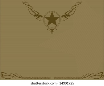 Brown old fashioned star background