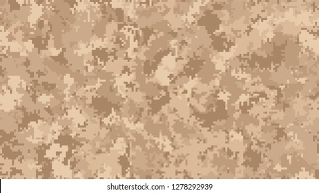 Brown pixel digital camouflage desert background