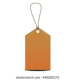 Brown price tag