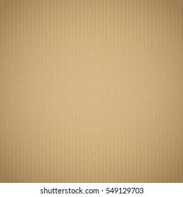 Brown recycled corrugated paper texture background. Kraft cardboard with paper fibres,wrapping paper or packaging box texture. Vector illustration stock vector.