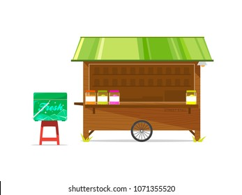 Brown Road Stall with Green Roof