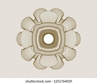 Brown rosette. Linear Illustration.