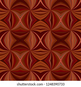 Brown seamless abstract psychedelic swirl stripe pattern background - vector ray illustration