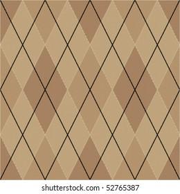 Brown seamless argyle pattern