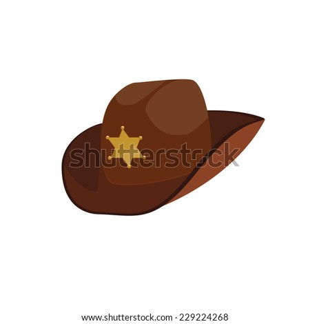 61ffd174f Brown Sheriff Hat Sheriff Hat Cowboy Stock Vector (Royalty Free ...