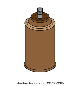 brown spray can on white background. vector format illustration