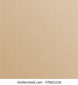 Brown and striped card board background. Eps 10 vector file.