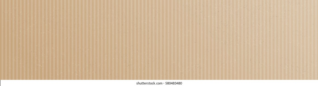 Brown and striped cardboard header. Eps 10 vector file.