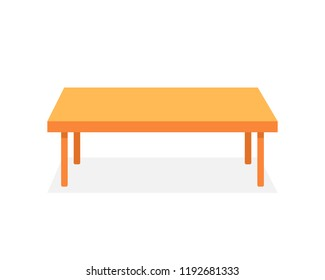 brown table like corporate desk. concept of minimal writing-table for seminar or conference and boardroom element. flat cartoon style trend modern graphic design isolated on white background