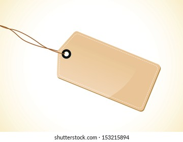 a brown tag label