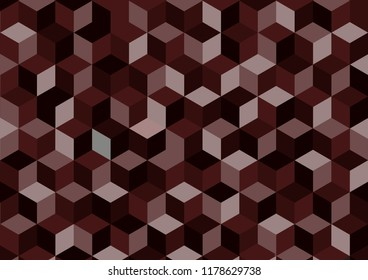 Brown vector abstract  background, geometric background in square style.