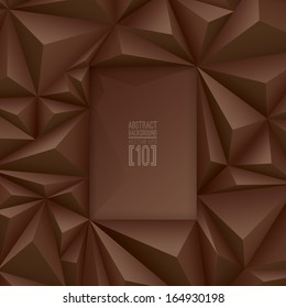 Brown vector geometric background. Can be used in cover design, book design, website background, CD cover, advertising.