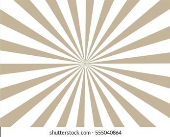 brown and white Sunburst Pattern. Sunburst background.  Vector illustration.