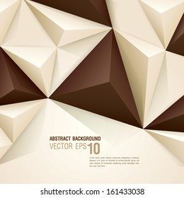Brown and white vector geometric background can be used in cover design, book design, website background, CD cover, advertising.