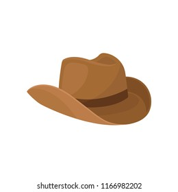 Brown wide-brimmed cowboy hat. Stylish men headwear. Element of costume.  Fashion 4efe1cc2a6b6