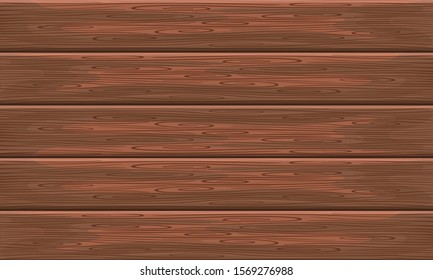 brown wood texture and background vector illustration