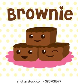 Chocolate Fudge Brownie Stock Illustrations Images