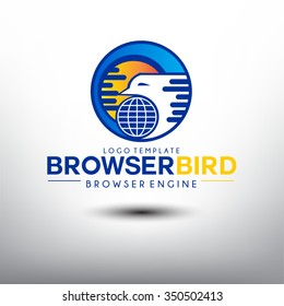 Browser Bird. Logo template for Browser Engine Company