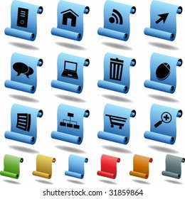Browser Scroll Icons