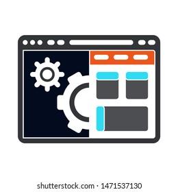 browser setup icon. flat illustration of browse setup - vector icon. browser setup sign symbol
