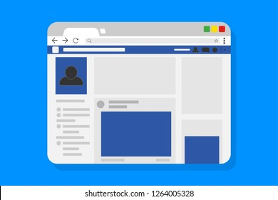 Browser window flat page template. Vector illustration. EPS 10.