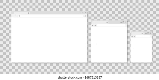 Browser window. Search. Browser in flat style. Search engine illustration