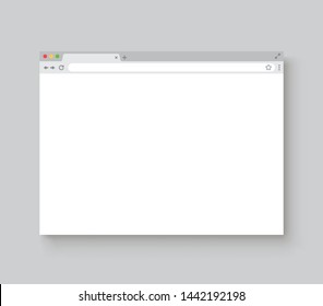 Browser window. Web browser mockup with shadow - stock vector.