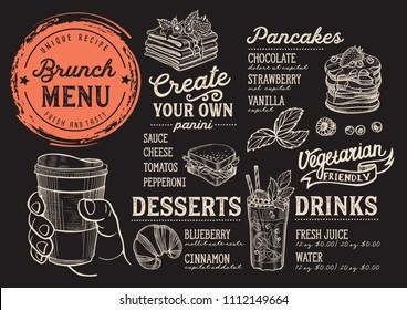 coffee drink menu restaurant cafe design のベクター画像素材