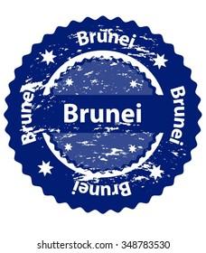 Brunei Country Grunge Stamp