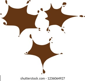 brush cocolate vector. cocolate paint melts