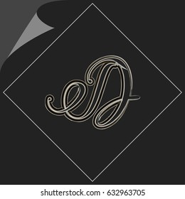 brush font hand drawn alphabet d