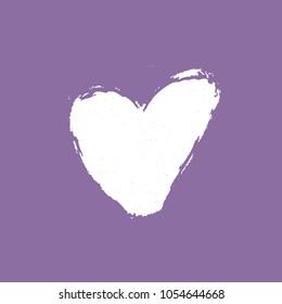 brush heart handdrawn