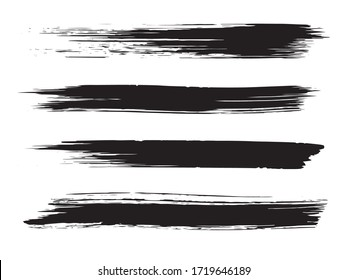 Brush Ink. Black Graffiti Textures. Grey Painting Stripe. Scribble Abstract. Monochrome Stroke Vector. Gray Paint Brushes Photoshop.