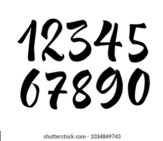 Calligraphy Numbers Images, Stock Photos & Vectors   Shutterstock