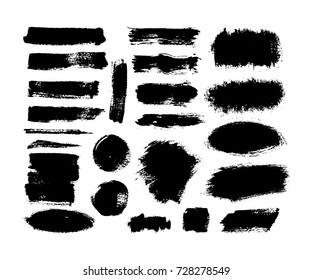 Brush and paint textures set